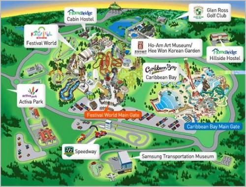 sơ đồ công viên Everland Hàn Quốc