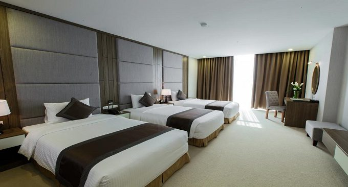 phòng khách sạn trong chùa tam chúc