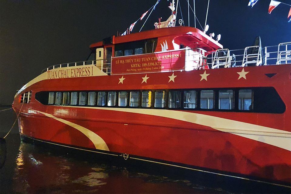 Gía vé Tàu Cao Tốc Tuần Châu express Từ Vân Đồn Đi Coto