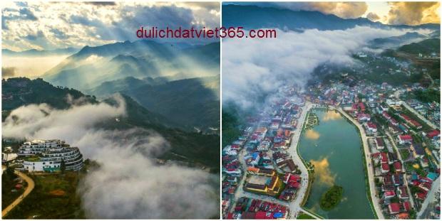 Du lịch Sapa tháng 9- Toàn cảnh Sapa từ trên cao