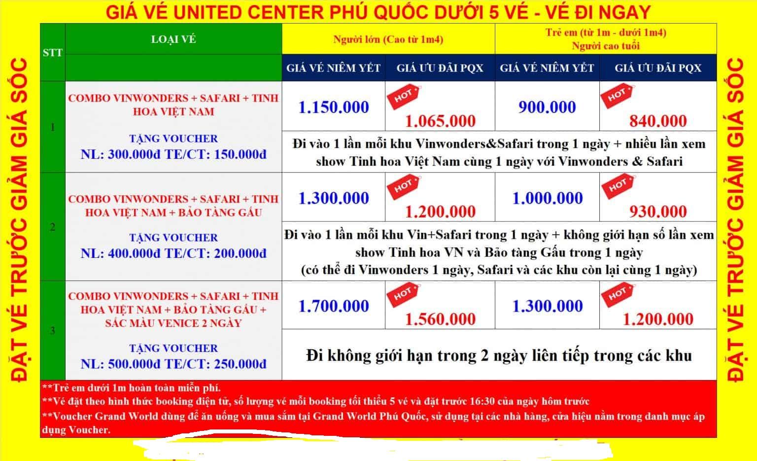 giá vé united phú quốc